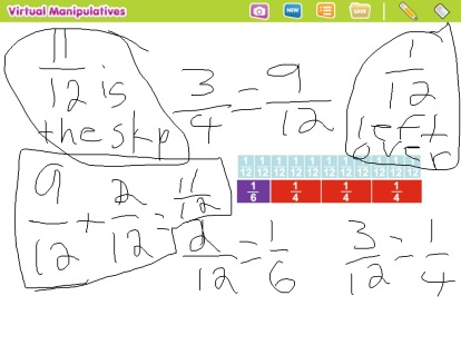 A student shares a screenshot demonstrating their ability to model and use numbers to solve a math problem. This image is saved for reflection at the end of the unit.